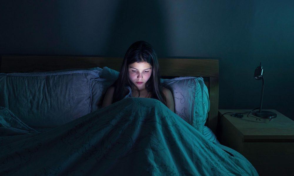 Blue light and sleep problems