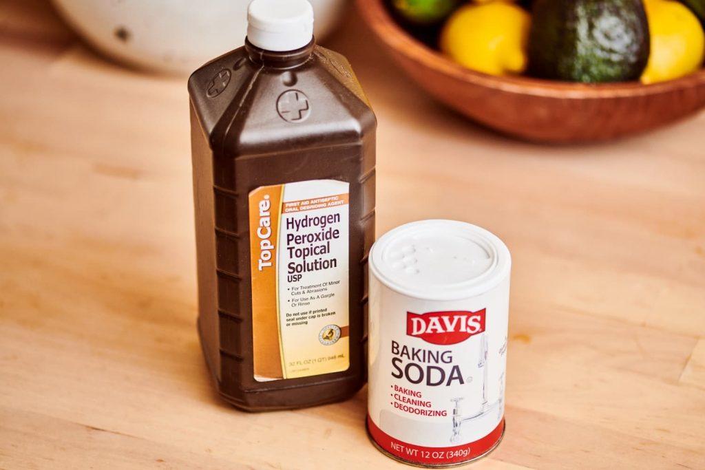 hydrogen peroxide and baking soda